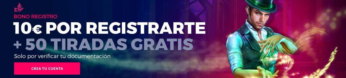 10€ gratis más 50 tiradas con tu registro en casino gran madrid