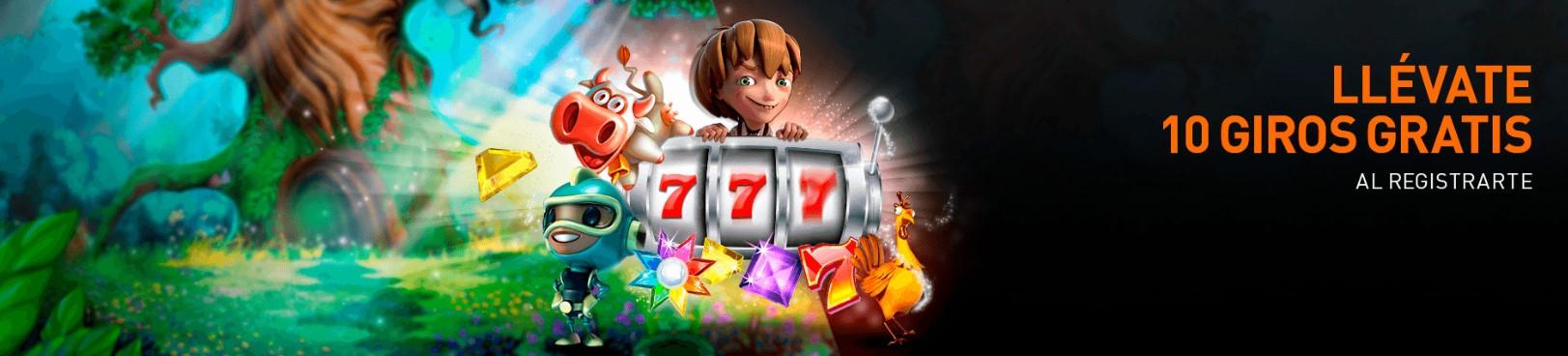 10 giros gratis en casino 777 con tu registro