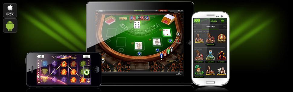Aplicación para dispositivos móviles Casino 888