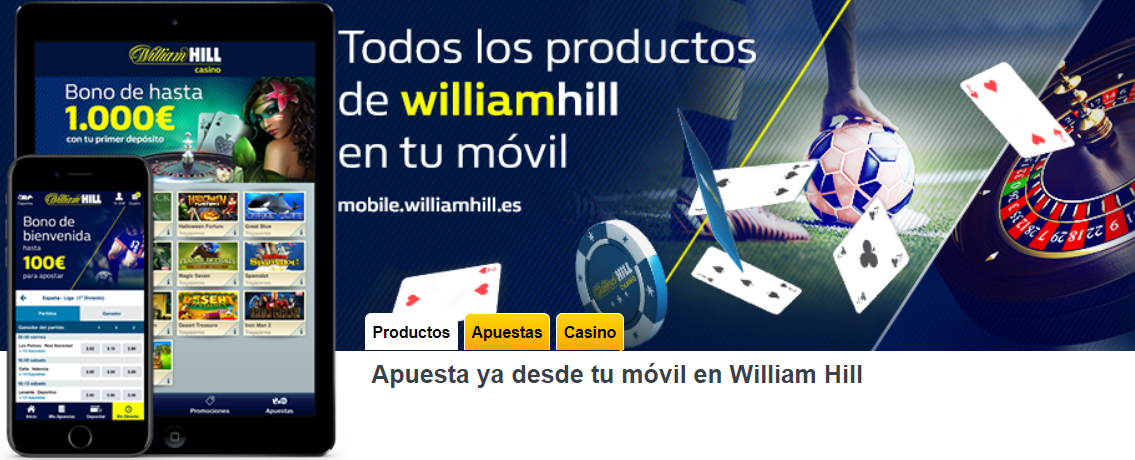 Aplicación para dispositivos móviles William Hill
