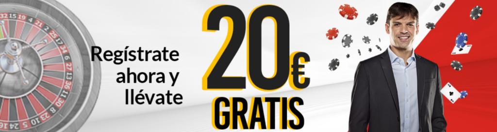 Bono de 20€ gratis en Marca Apuestas casino