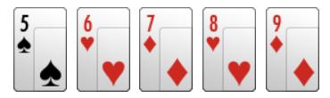 Escalera, poker, reglas básicas