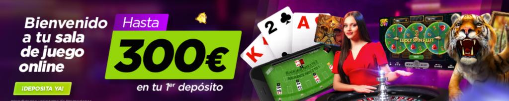 Bono de bienvenida Vive la suerte casino