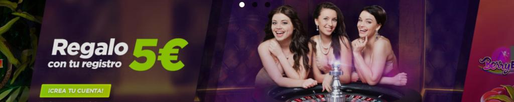 bono sin depósito vive la suerte 5€ casino