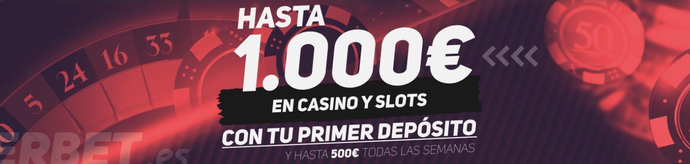 Hasta 1000€ de bono de bienvenida