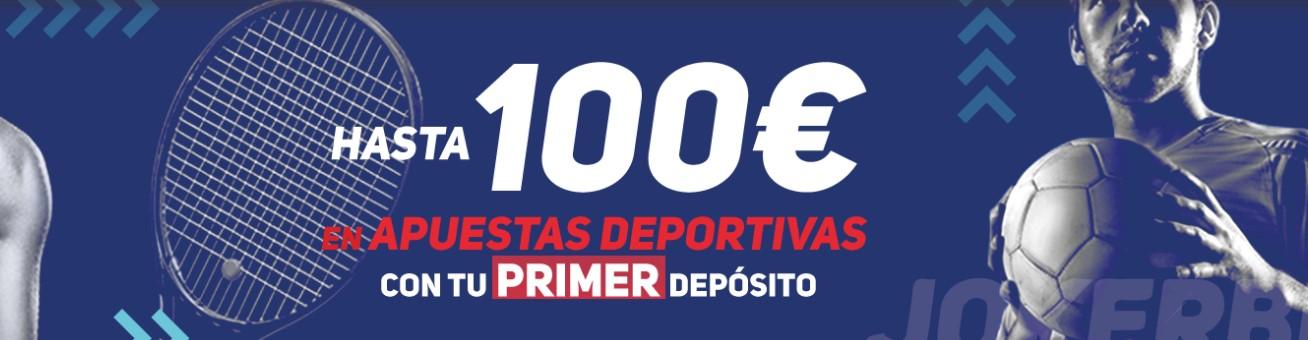 hasta 100€ en apuestas deportivas con tu bono de bienvenida jokerbet